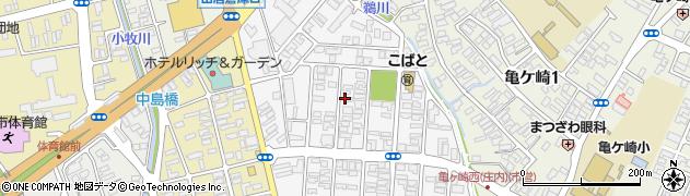 山形県酒田市千石町1丁目周辺の地図