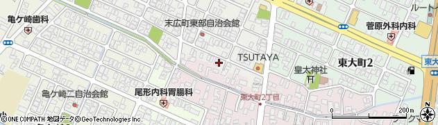 山形県酒田市末広町21周辺の地図