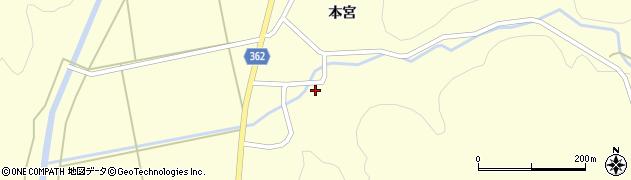 山形県酒田市北俣本宮周辺の地図