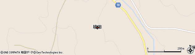 岩手県一関市室根町矢越境田周辺の地図