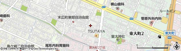 山形県酒田市末広町10周辺の地図