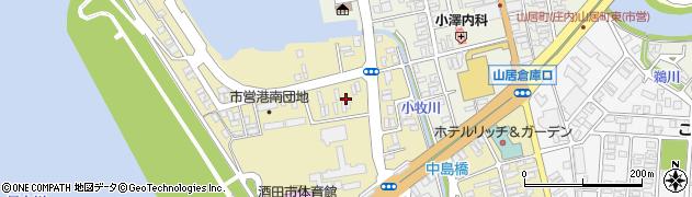 山形県酒田市入船町4周辺の地図