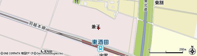 山形県酒田市大町(兼子)周辺の地図