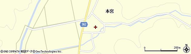 山形県酒田市北俣本宮46周辺の地図