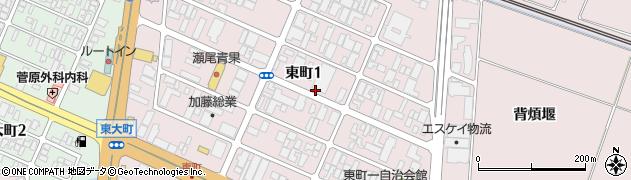 山形県酒田市東町周辺の地図