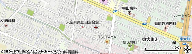 山形県酒田市末広町11-12周辺の地図