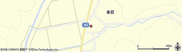山形県酒田市北俣本宮35周辺の地図