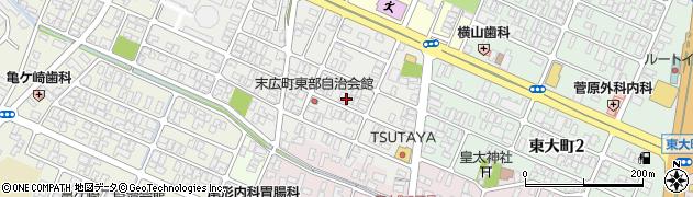 山形県酒田市末広町11-17周辺の地図