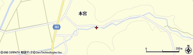 山形県酒田市北俣本宮14周辺の地図