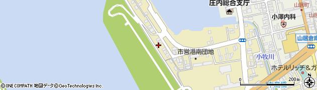 山形県酒田市入船町8周辺の地図