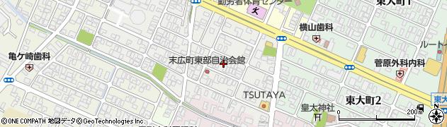山形県酒田市末広町11周辺の地図