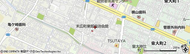 山形県酒田市末広町11-22周辺の地図