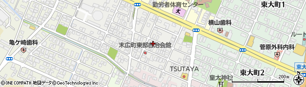 山形県酒田市末広町11-2周辺の地図