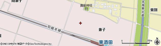 山形県酒田市大町兼子周辺の地図