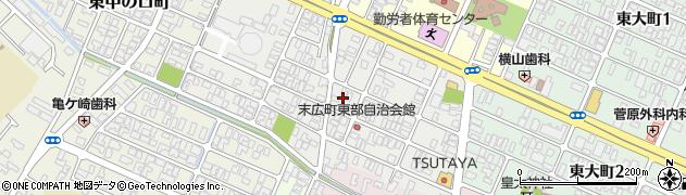 山形県酒田市末広町12周辺の地図