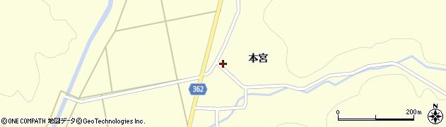 山形県酒田市北俣本宮28周辺の地図