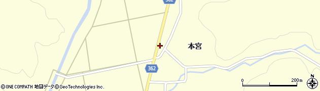 山形県酒田市北俣落シ下周辺の地図