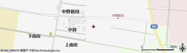 山形県酒田市中野新田中割17周辺の地図