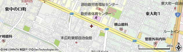 山形県酒田市末広町7周辺の地図