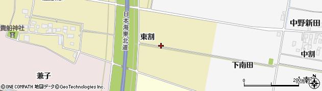 山形県酒田市土崎(東割)周辺の地図