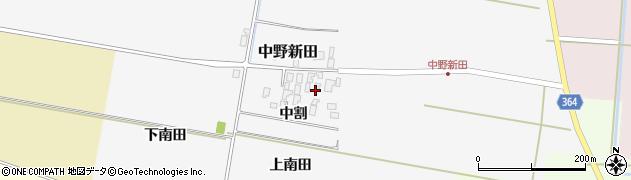 山形県酒田市中野新田中割30周辺の地図