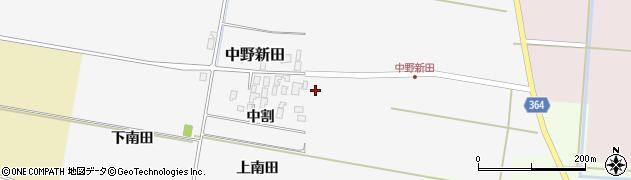 山形県酒田市中野新田中割21周辺の地図