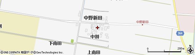 山形県酒田市中野新田中割39周辺の地図