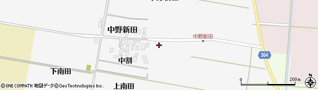 山形県酒田市中野新田中割19周辺の地図