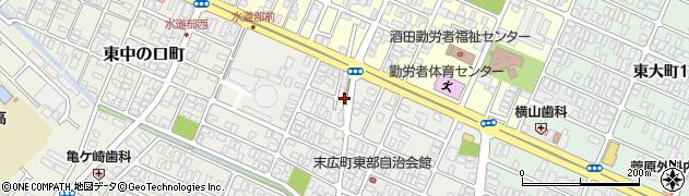 山形県酒田市末広町3周辺の地図
