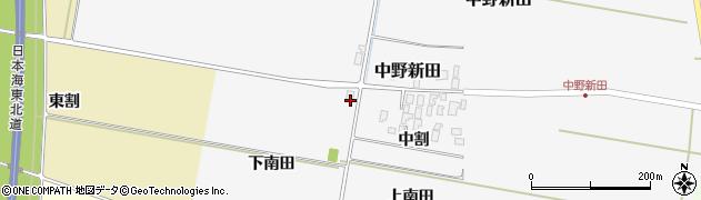 山形県酒田市中野新田下南田周辺の地図