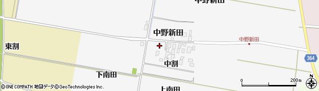 山形県酒田市中野新田中割48周辺の地図