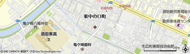 山形県酒田市東中の口町17周辺の地図