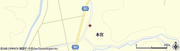 山形県酒田市北俣本宮27周辺の地図