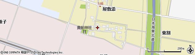山形県酒田市土崎屋敷添周辺の地図