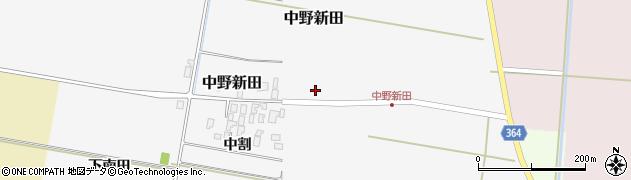 山形県酒田市中野新田中割12周辺の地図