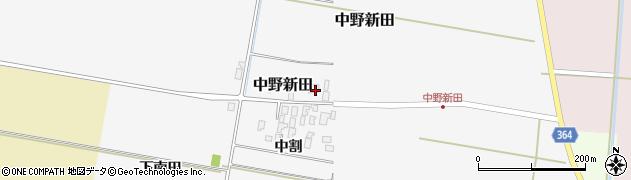 山形県酒田市中野新田中割36周辺の地図