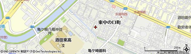 山形県酒田市東中の口町15周辺の地図