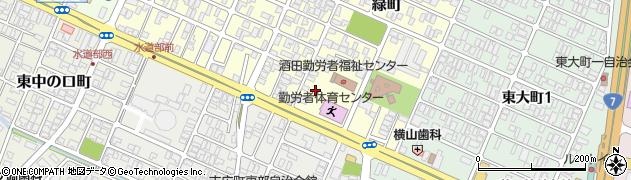 山形県酒田市緑町19周辺の地図