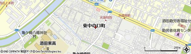 山形県酒田市東中の口町7周辺の地図