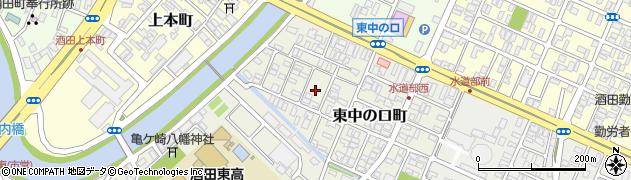山形県酒田市東中の口町10周辺の地図