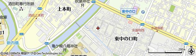 山形県酒田市東中の口町12-8周辺の地図