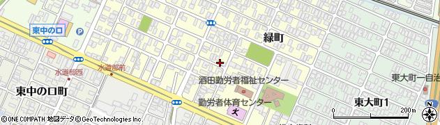 山形県酒田市緑町15周辺の地図
