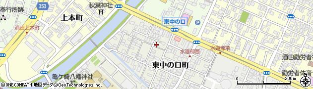 山形県酒田市東中の口町2-41周辺の地図
