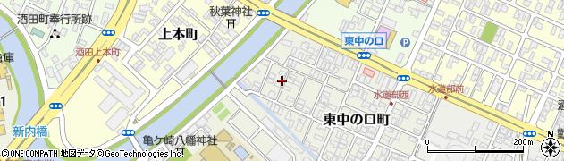 山形県酒田市東中の口町12-6周辺の地図