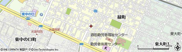 山形県酒田市緑町16周辺の地図