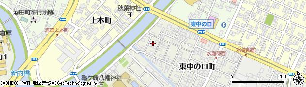 山形県酒田市東中の口町12周辺の地図