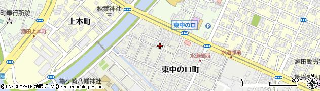 山形県酒田市東中の口町2-40周辺の地図