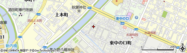 山形県酒田市東中の口町12-19周辺の地図