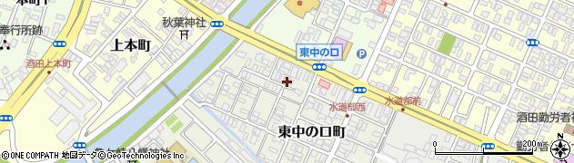 山形県酒田市東中の口町2周辺の地図