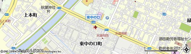 山形県酒田市東中の口町3周辺の地図